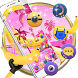 Banana Pink Island Cute Mini Friends Theme by Christina_Liang
