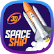 3D Rocket Spaceship Speed Theme