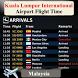 Kuala Lumpur Airport Flight Time by AsoftTechnology