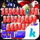American Flag Kika Keyboard by Kika Theme Studio