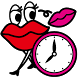 ANAP GiRL-Jolly Lip Clock by NOS Inc.