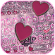 Glitter Love Heart Theme for Keyboard by Creative Beauty Studio