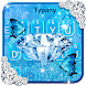 Blue Diamond Glitter Typany Keyboard by 3D / Animated Keyboard Themes