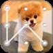 Puppy Dog Pattern Lock Screen by appsfreelocker