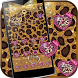 Gold cheetah Theme gold bow