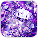 Purple Diamond Glitter Theme by AllIn Themes App