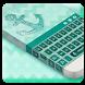 Turquoise Blue Keyboard Theme