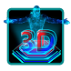 3D Superman Next Tech Holographic Launcher Theme by Hello Keyboard Theme