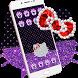 Purple Black Diamond Kitty Theme by Angela Themes