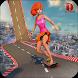 Girl Skating Run Adventure- Skateboard Game