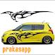 Car Sticker Cutting Design by prakasapp