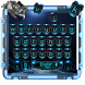 spacecraft universe keyboard space neon blue by Keyboard Theme Factory