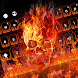 Fire Skull Keyboard Theme by Keyboard Dreamer