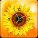 Sunflower Clock Live Wallpaper by SmartQuickApps