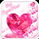 Pink Crystal Heart by Echo Keyboard Theme