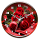 Red Rose Clock Live Wallpaper by Ripple Clocks