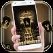golden iris keyboard flower luxury by Keyboard Theme Factory