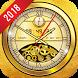 Golden Clock live wallpaper 2018 Gold Glitter Free by Deeko Games