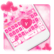 Pink Love Heart Keyboard by Cool Keyboard Theme Studio