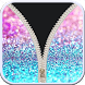 Cute glitter zipper lockscreen by Tools Box Studio