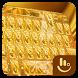 Gold Bullet Diamond Keyboard Theme by Beautiful Heart Design