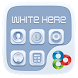 White Here GO Launcher Theme by Freedom Design