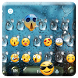 Emoji Rain Drops Keyboard Theme by Pretty Keyboard Theme