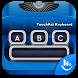 Blue Typewriter Keyboard Theme by Fashion Cute Emoji