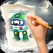 How To Draw Robocar Poli by SDN Daha 3