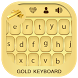 Gold Keyboard by Droid Keypad