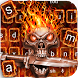 Red Tech Skull Sword Keyboard by Super Cool Keyboard Theme