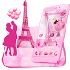 Pink Paris Love Theme & Wallpaper by android themes & Live wallpapers