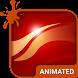 Flash Waves Animated Keyboard by Wave Keyboard Design Studio