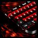 Glitter Red Keyboard by Cool Theme Studio