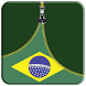 Brazil Flag Zipper Screen Lock by Softia Inc.