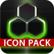 GLOW GREEN icon pack HD 3D by TapaniLab