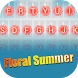 Floral Summer Theme Keyboard by Best Keyboard Theme Design