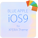 Blue APPLE for XPERIA Theme by androrank.com