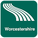 Worcestershire Map offline by iniCall.com