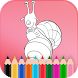 Coloring Game of Snail-Singer by Woohoo Coloring Studio