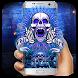 Neon scary skeleton by Bestheme Keyboard Designer 3D &HD