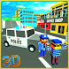 Blocky Police Car Craft Patrol by The Games Flare
