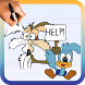 How to Draw Wile E. Coyote and the Road Runner by Drawings Apps
