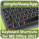 Shortcuts for MS Office 2013 by WAGmob (Simple 'n Easy)