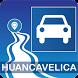 Mapa vial de Huancavelica - Perú by DePeru.com