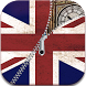 UK Flag zipper lock screen by zipper mobile