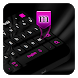 Black Pink Keyboard by Cool Theme Studio