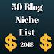 Blog Niche List #02 by Heyappmaker