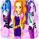 dressup Dazzlings Girls MLPEGames
