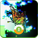 Neon Butterfly Wall & Lock by Theme Rocket